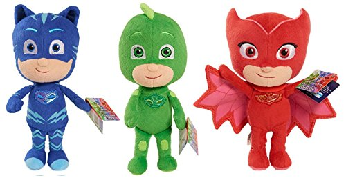 PJ Masks Mask Soft Plush Toy Gekko Owlette Catboy Romeo (All 3)