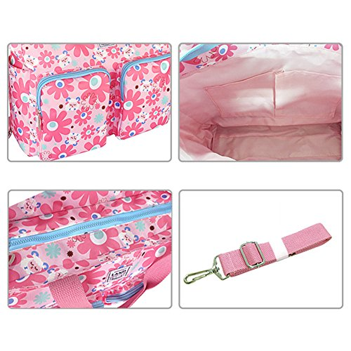 Kangming Fashion Blumen Baby wickeln Tasche rose