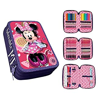 Disney Minnie Mouse AS013/AST1780 – Estuche, 20 cm, Multicolor