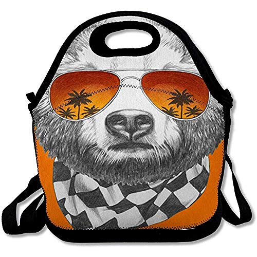 Scatole Bento Marrón Grizzly Dibujo Original Oso Espejo Gafas De Sol De Mano Bebé Negro Diseño Fresco...