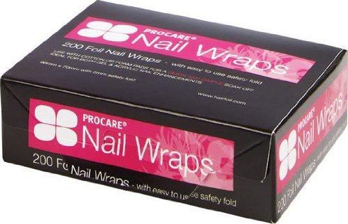 Procare Nail Wraps Folien zur Nagellackentfernung, 96x70mm, mit 5mm Sicherheitsfalte