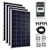 Giosolar Solar Panel Kit 400W (4x 100W) Off grid solar system kit battery charger Polycrystalline Panel MPPT LCD controller complete