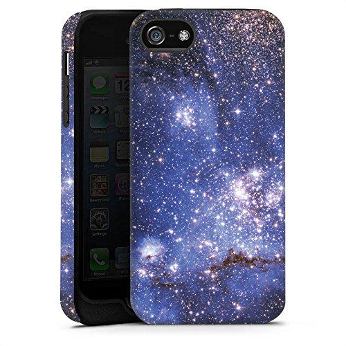 Apple iPhone 5 Housse Étui Silicone Coque Protection Galaxie Motif Motif Cas Tough terne