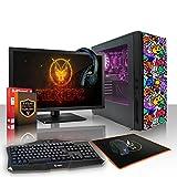 Fierce EXILE RGB Gaming PC Bundle - Schnell 4 x 3.8GHz Quad Core AMD A-Series 7650K - 1TB Festplatte - 8GB von 1600MHz DDR3 RAM-Speicher - AMD Radeon R7 Integrierte Grafik - HDMI, USB3, Wi-Fi - Perfekter Einstieg in PC-Spiele - Windows nicht Enthalten - Tastatur (VK/QWERTY) / Maus / 21.5-Zoll-Monitor / Headset - 3 Jahre Garantie - (408272)