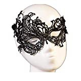 RCFRGV Halloween mask Carnival Mask Half Mask Adults' Women's Lace Up Christmas Halloween Carnival Festival/Holiday Black Carnival Costumes Solid Colored Lace