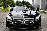 Lizenz Elektro Kinderauto Mercedes S63 AMG 2 x 35W | 12V | MP3 | RC, Farbe:Schwarz