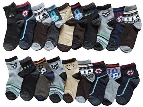 10 Stück Jungen Socken Größe 27-38 (35-38)