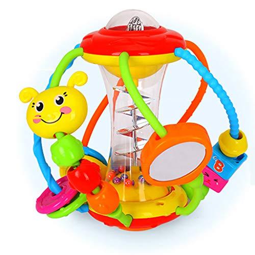 Gesund Ball Baby Spielzeug 3 6 Monate Rassel Lehrreich Lernen Fitness-Ball Hand den fangen Rollende Kugel Kinematik Krabbeln