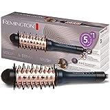 Remington Volumenbürste, Glättbürste und Lockenstyler, 3 in 1 Funktion: Haarbürste, Haarglätter und Volumenstyler, 38 mm Rundbürste mit 3 Temperatureinstellungen von 150-230°C, CB7A138