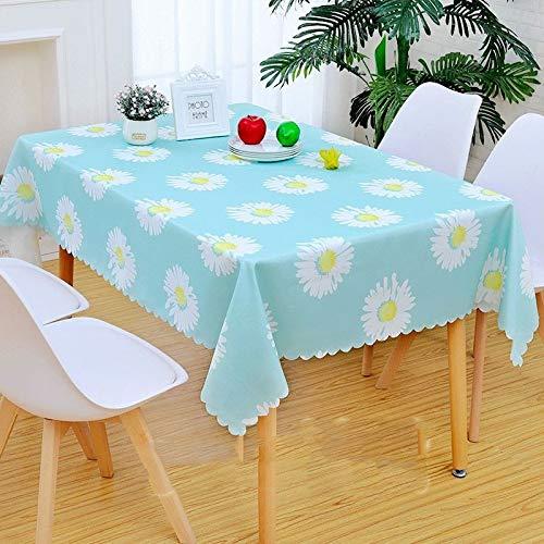 Preisvergleich Produktbild CFWL Rechteckige Tischdecke wasserdicht und resistent gegen Öl Sun Flower 150 x 150 cm Tischdecke Weiß Wedding Tischdecke Weiß und Schwarz Compleanno