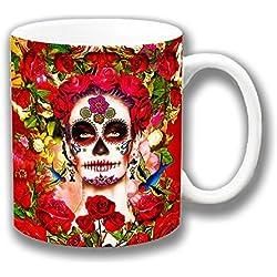 Retro mexicana Día de los muertos Flores Cerámica Té Café