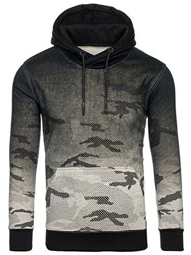 ... BOLF Herren Pullover mit Kapuze Sweatshirt Langarmshirt Sweatjacke  Militär Army Camo Muster 1A1 Grau DD132-1 ... e8fe1d229b