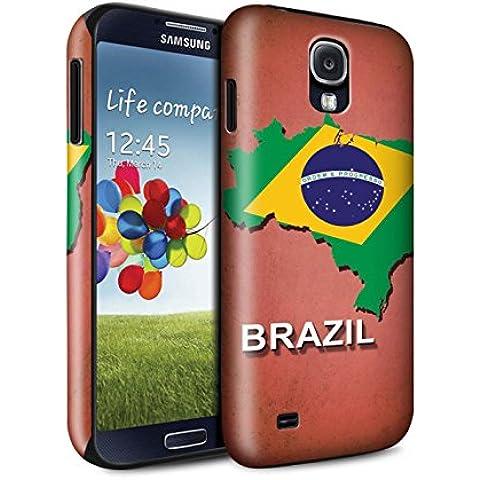 STUFF4 Brillo Duro Carcasa/Funda a Prueba de Golpes para el Samsung Galaxy S4/SIV / serie: Naciones bandera - Brasil/brasileño