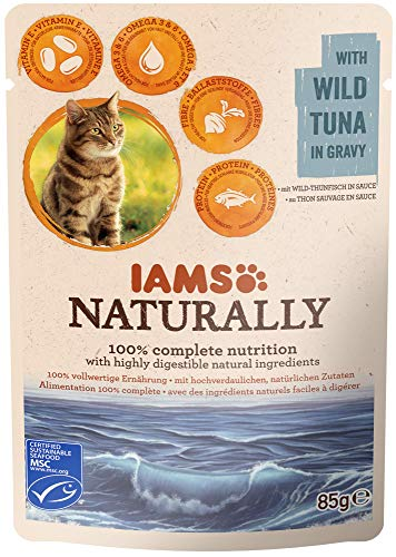 Iams Cibo Umido per Gatti Adulti Naturally Wild Tuna in Gravy - 85 gr