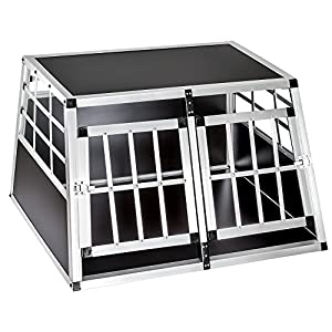 Cage box caisse de transport chien mobile aluminium XXL double