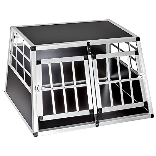 TecTake Alu Hundetransportbox -Diverse Größen- (Double Klein) (Metall-hundebox 30)