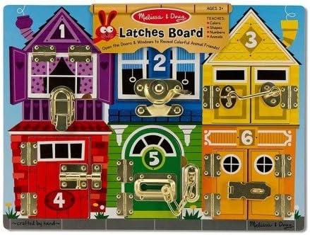 Melissa and doug - Grand Puzzle en bois 6 verrous trouve des animaux jeu éducatif enfants 3 ans   Emballage Solide