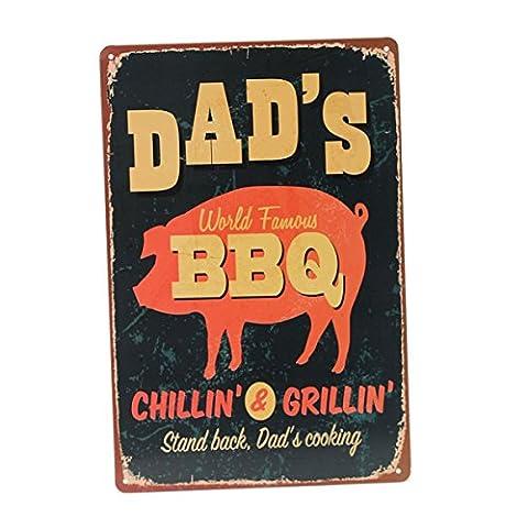 Bluelover BBQ Tin Sign Retro Vintage Metal Plaque Bar Pub Home Wall Decor