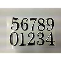 SystemsEleven SILVER / BLACK STICKY PROPERTY NUMBERS set for lockers doors house office bins