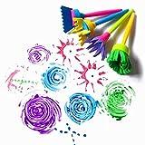 SUNXIN 4pcs Enfants Bébé Joint éponge Peinture DIY Brosse Dessin Sponge Brush Pinceau Jouets Dessin Jouets...