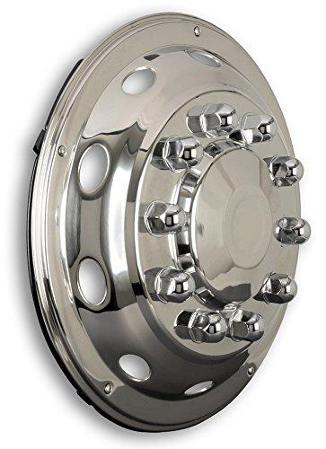 Panneau de garniture de roue universel 22,5 pouces avec écrous de roue montés - courbe - essieu avant pour camion MAN MP2 MP3 F2000 M2000 M2000 TG-A TGL TG-L TG-L TGX TG-X TG-X TGS TGS TG-S