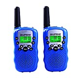 Lospu HY® BaoFeng Mini BF-T3 Walkie Talkie für Kinder UHF VOX 8CH mit LC-Display (1 paar)(Blue)