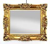 Großer Wandspiegel Barock Gold mit Facettenschliff, Spiegel Antik 60x70cm Garderobenspiegel Frisierspiegel Ankleidespiegel