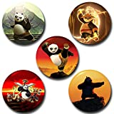 #6: Capturing Happiness Kung Fu Panda Button pin Badge Pack Of 5