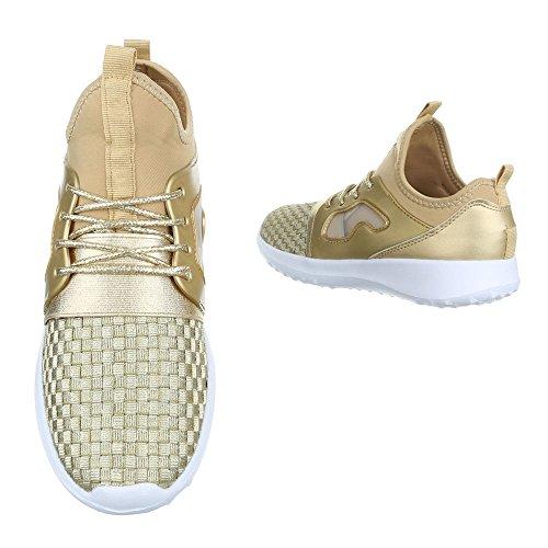 Ital-Design , Baskets pour femme Or