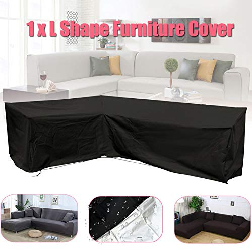 Lanbowo L-förmige Abdeckung für Terrasse, Sofa, Möbel, Couch-Abdeckung, wasserdicht, staubdicht, zum Bewegen von Sonnenschutzmitteln - Terrasse Garten Schatz