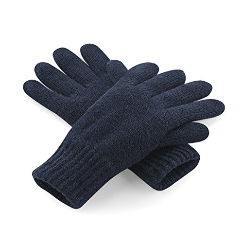 Beechfield - Gants thermiques Thinsulate polaires - Adulte unisexe (S/M) (Bleu marine)