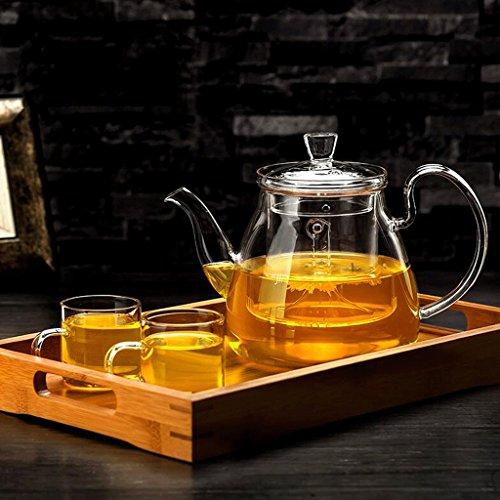 Teekanne ZLR Tee Set Brew Tee Wasserkocher Haushaltsfilter Liner Tee-Set Tee-Set 750 ml 2 4 Tassen + Tee Tablett (UnitCount : A) - Brew-wasserkocher-set