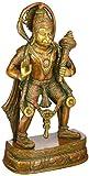 Anonymous Artist Hanuman Statue–27,9cm Messing Statue Lord Hanuman A Hindu God by Lotus Skulptur, die aus Indien