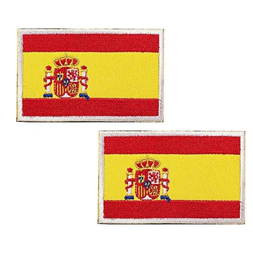 España Bandera Bordado Táctico bandera velcro podría