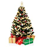 #10: Decorative Buckets:CHRISTMAS DECORATIONS : SET OF 50 PCS CHRISTMAS TREE ORNAMENT ASSORTED PACK :MULTIPLE VARIETIES: christmas tree decorations set. Xmas decorations