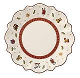 Villeroy & Boch Toy's Delight Brotteller, 17 cm, Premium Porzellan, Weiß/Rot