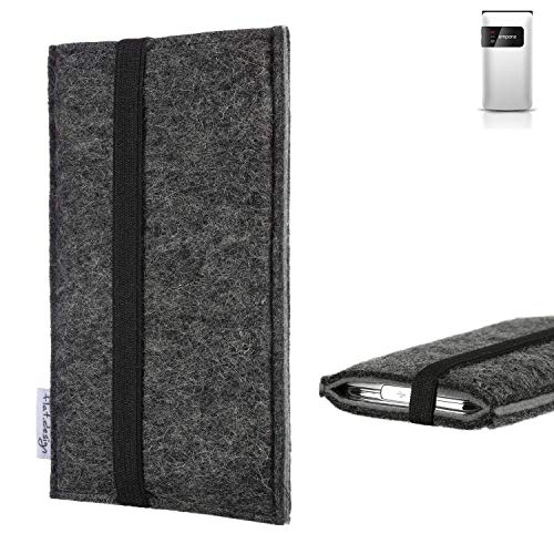 flat.design Handyhülle Lagoa für Emporia FLIP Basic | Farbe: anthrazit/grau | Smartphone-Tasche aus Filz | Handy Schutzhülle| Handytasche Made in Germany