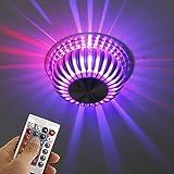 INHDBOX Deckenlampe LED Farbwechsellampe klein RGB (multicolor) mit Fernbedienung 3W (Watt) dimmbar 120° Abstrahlwinkel Lampe Strahler Alu [Energieklasse A]