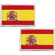 España Bandera Bordado Táctico bandera con velcro podría ser pegado a la ropa, chaleco, gorra, mochila Directamente