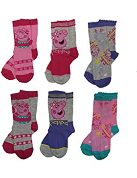 6er Pack Peppa Pig Wutz Socken