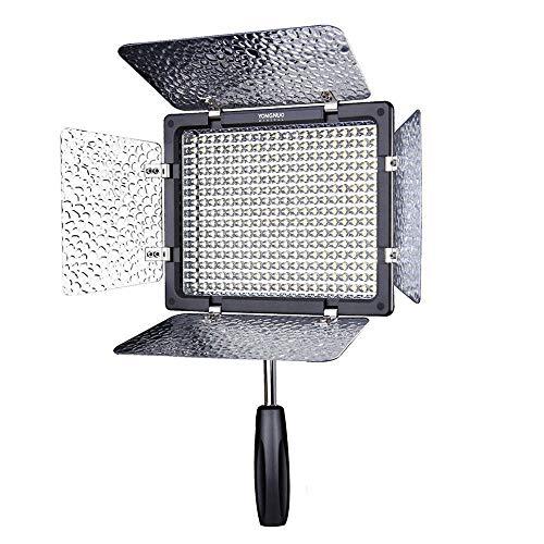 Yongnuo YN-300 LED Video Light Luce Video a LED 5500K con 300pcs LED Luce Video Lampada con IR Telecomando per Canon Nikon SLR Camera DV Camcorders Videocamera Aggiornamento da YN160 YN160S CN 160