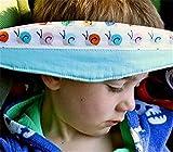 Baby Autositz Kopfstütze Und Nackenentlastung Zufällige Farbe Sicherheitsschlafhilfe Verstellbarer Gürtel (1 Stück)