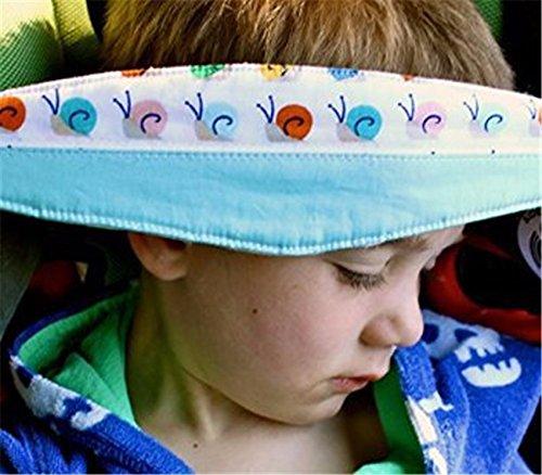 Baby Autositz Kopfstütze Und Nackenentlastung Zufällige Farbe Sicherheitsschlafhilfe Verstellbarer Gürtel (1 Stück) Autositz Baby-kopfstütze