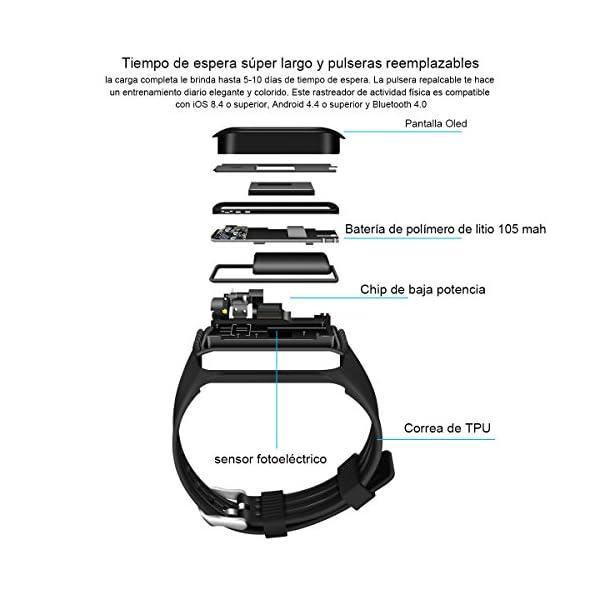 Fitness Tracker QIMAOO K1 Pulsera Actividad Inteligente IP68 Impermeable 8