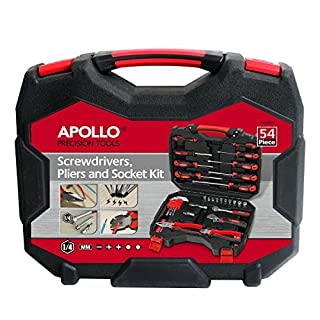 Apollo Precision Tools 54 teiliges Schraubendreher, Zangen &1 / 4 Zoll) Werkzeug (metrisch)