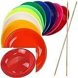 Platos chinos con palo de madera o con palo de plástico, varios colores y diferentes cantidades, vendido por SchwabMarken