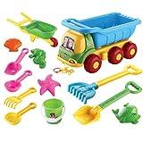 DAN DISCOUNTS Sandspielzeug,13 Stück Strand Spielzeug Set Sand Spielzeug Strand Eimer Schaufel Schubkarre Spielset für Kinder