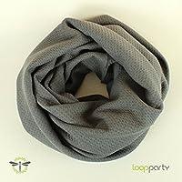XXL Loop-Schal Winter silber-grau voluminös dick & kuschelig HANDMADE