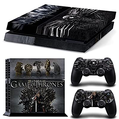 Game Of Thrones PS4 Playstation 4 Console + 2 Controllers Skin Sticker Vinyl Decal Set (5035)
