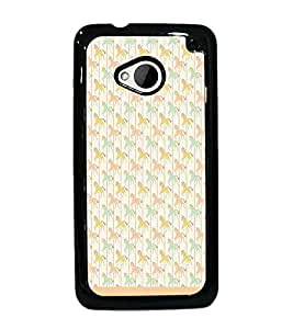 PrintDhaba Horse Pattern D-1502 Back Case Cover for HTC ONE M7 (Multi-Coloured)